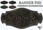 Metal banner PSD 3