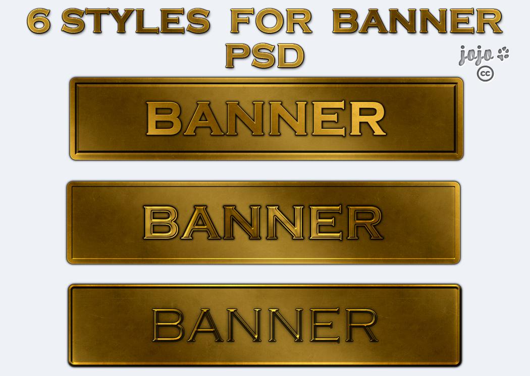 Styles for banner PSD by jojo-ojoj