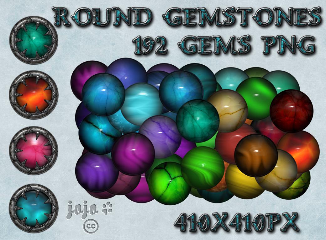 Round Gemstones by jojo-ojoj