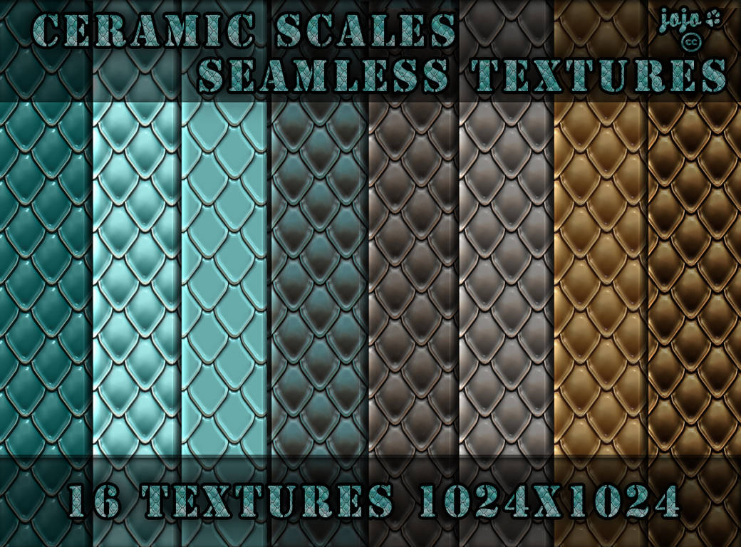 Ceramic scales seamless textures