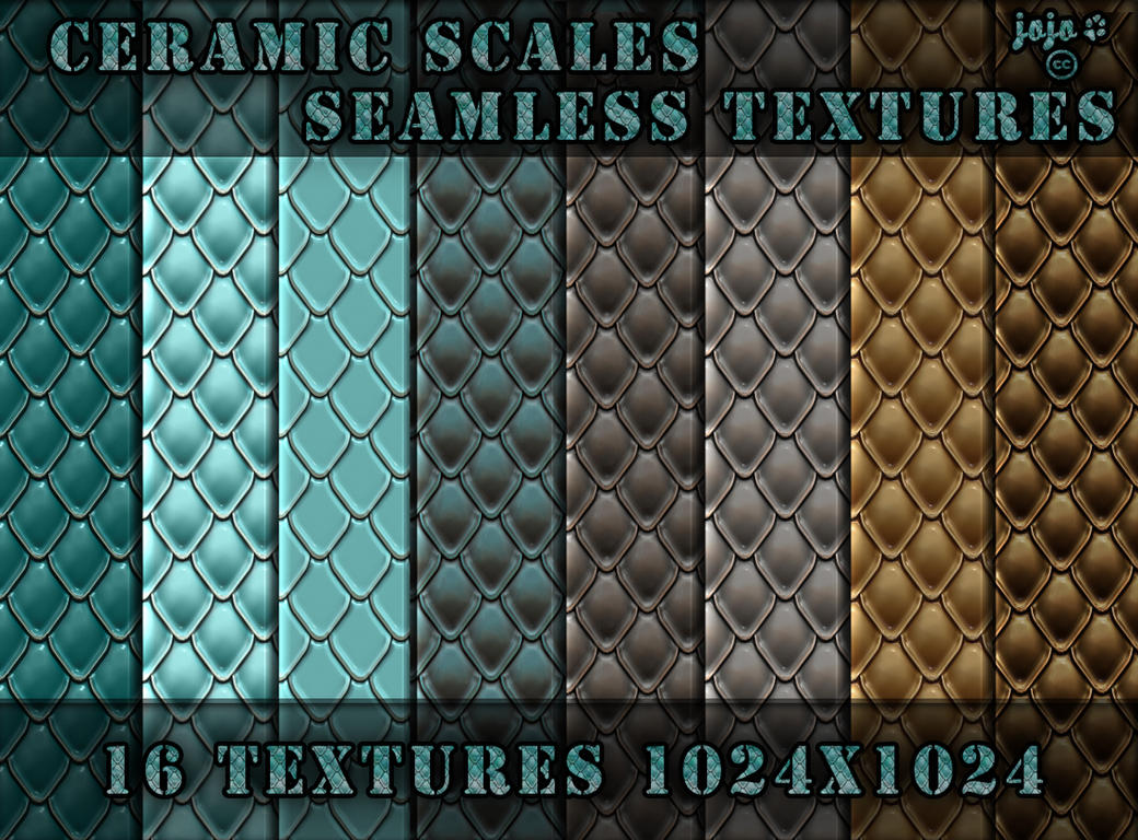Ceramic scales seamless textures by jojo-ojoj