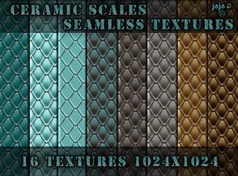 Ceramic scales seamless textures