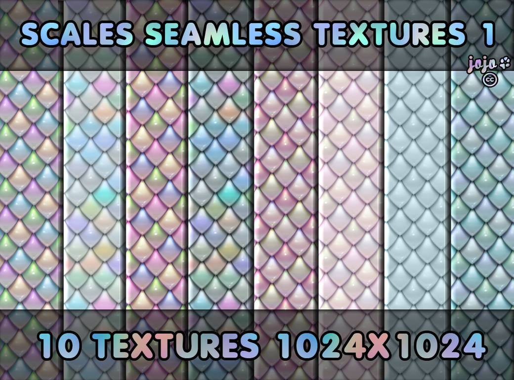 Scales seamless textures 1 by jojo-ojoj
