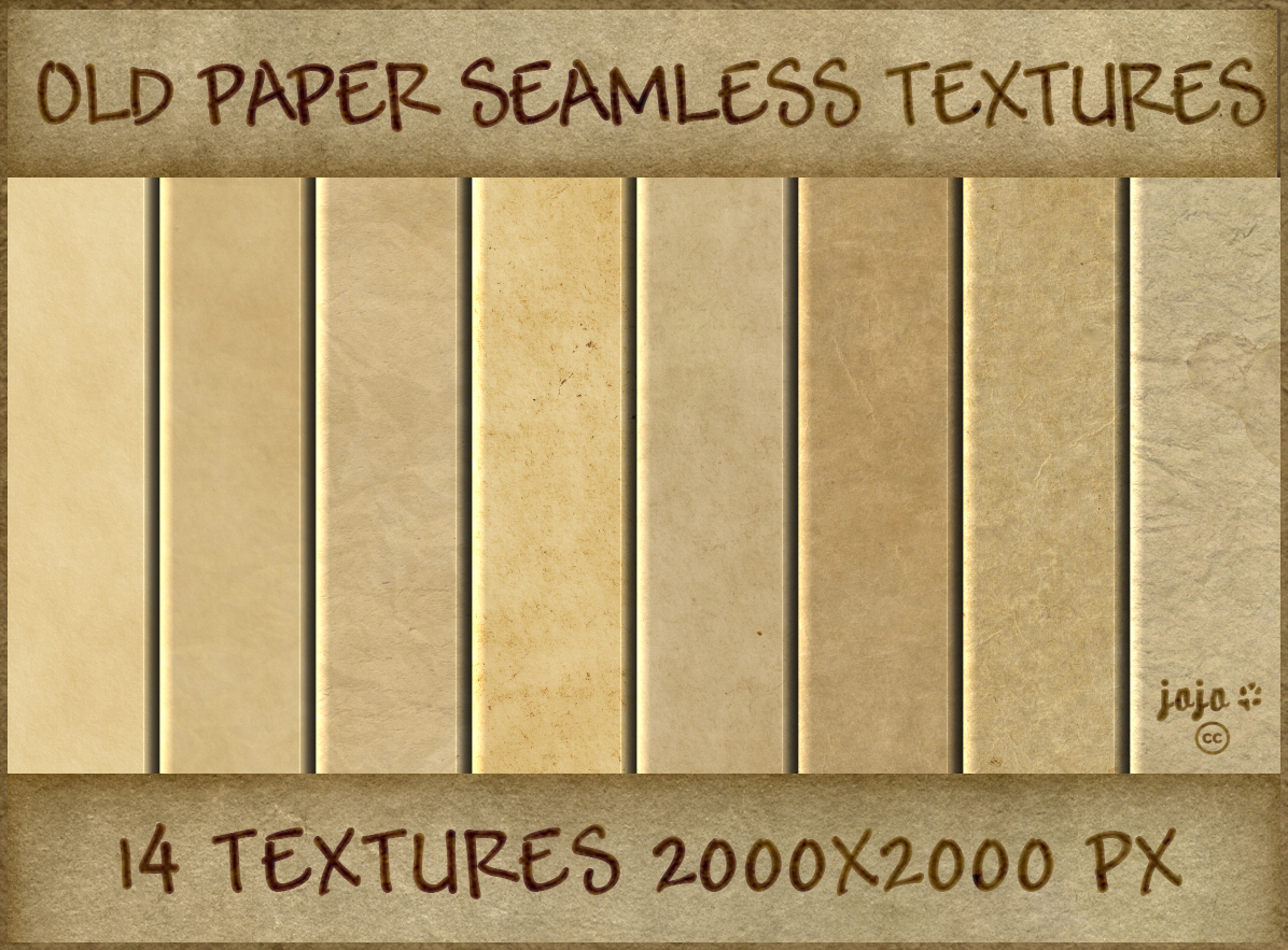 Old paper seamless textures