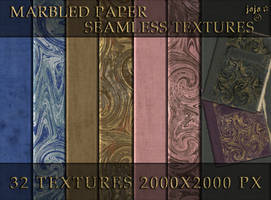 Marbled paper seamless textures by jojo-ojoj