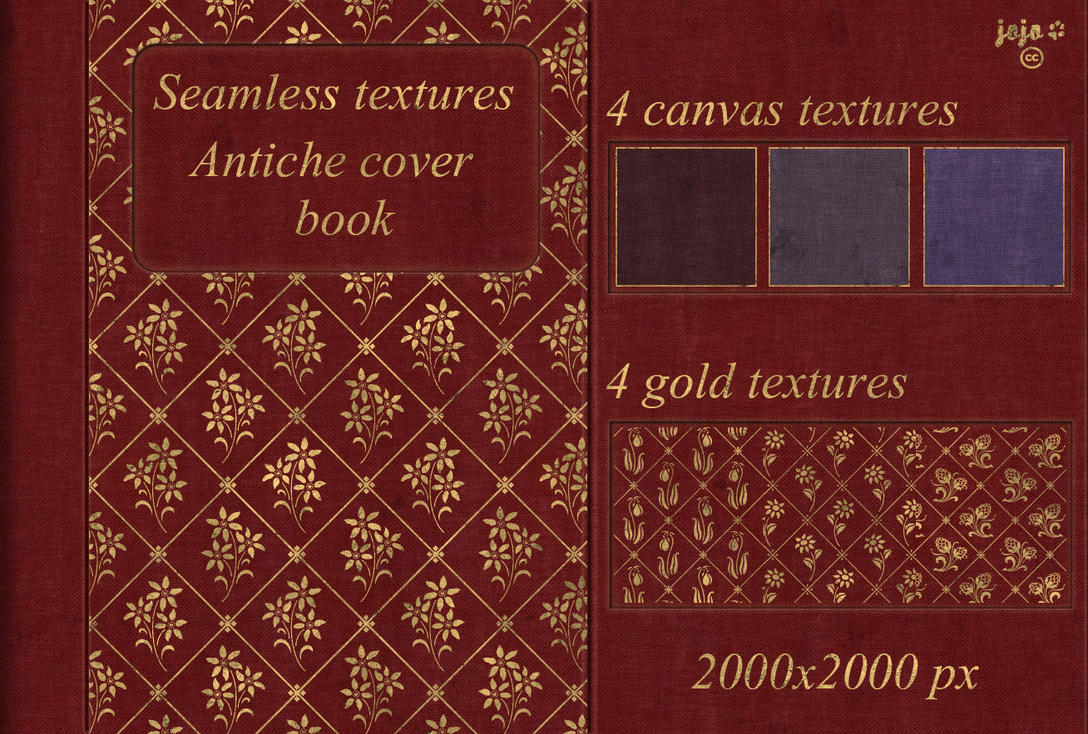 Book Cover Texture Quiz : Antiche cover book seamless textures by jojo ojoj on