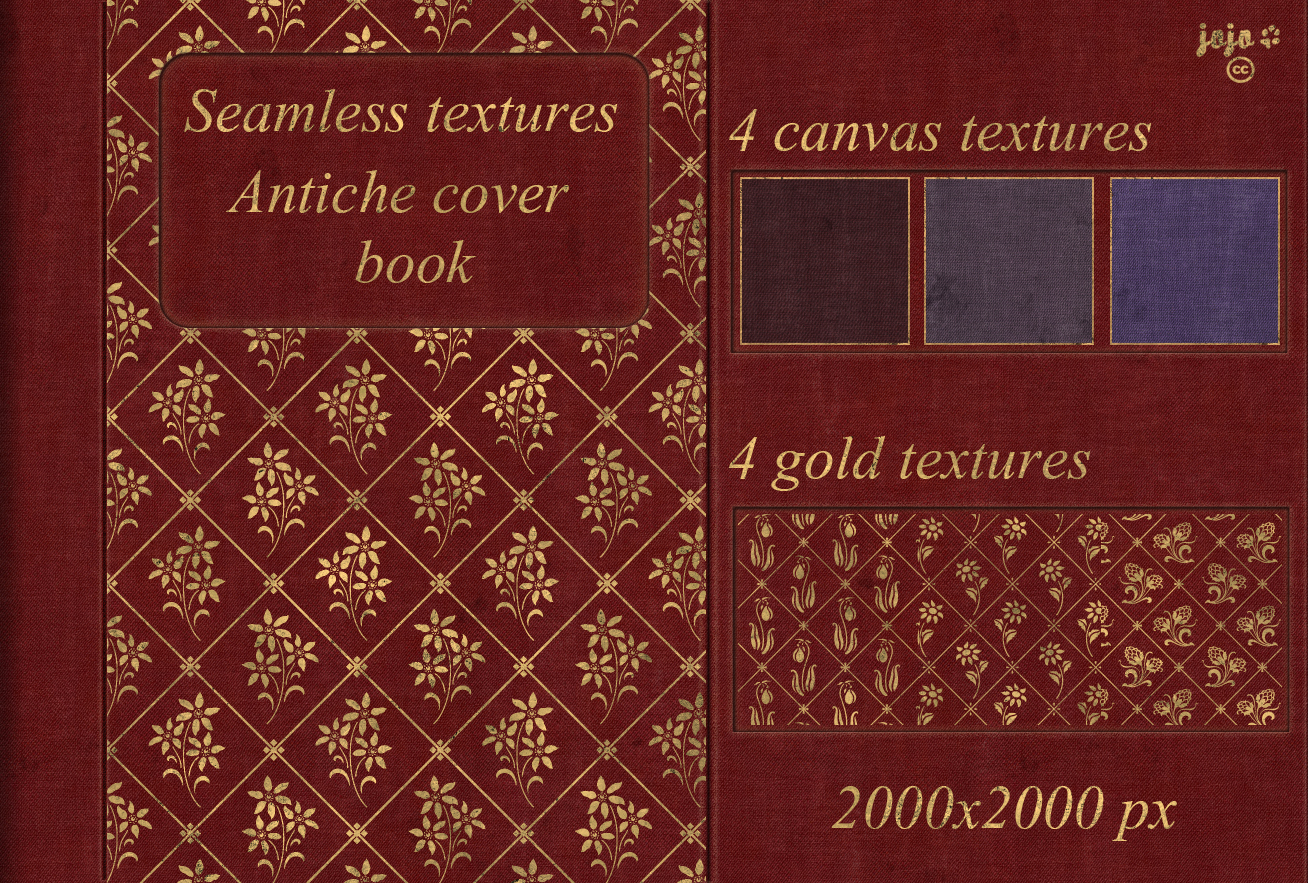 Book Cover Texture Year : Antiche cover book seamless textures by jojo ojoj on
