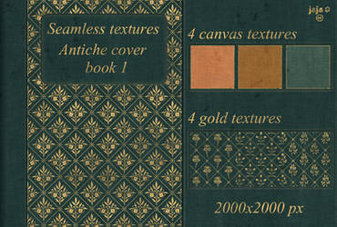 Antiche cover book Seamless textures 1