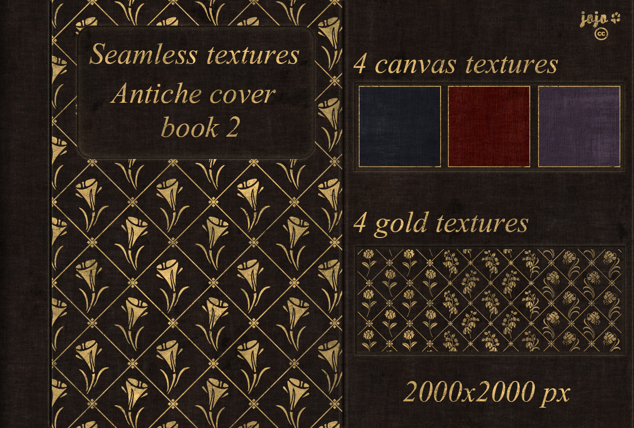 Book Cover Texture Names : Antiche cover book seamless textures by jojo ojoj on