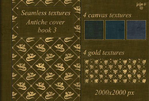 Antiche cover book Seamless textures 3