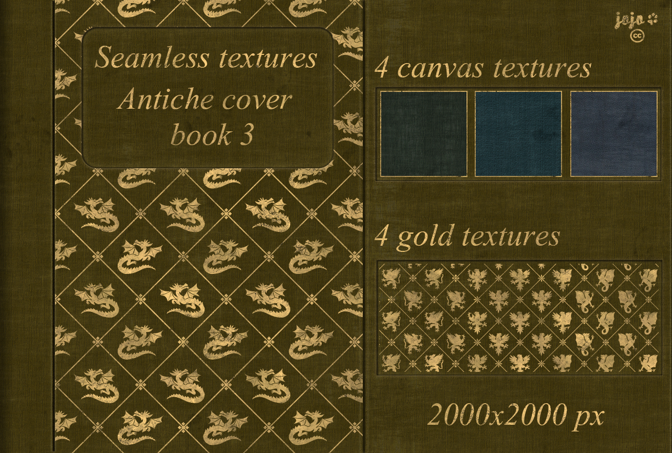 Book Cover Texture Example : Antiche cover book seamless textures by jojo ojoj on