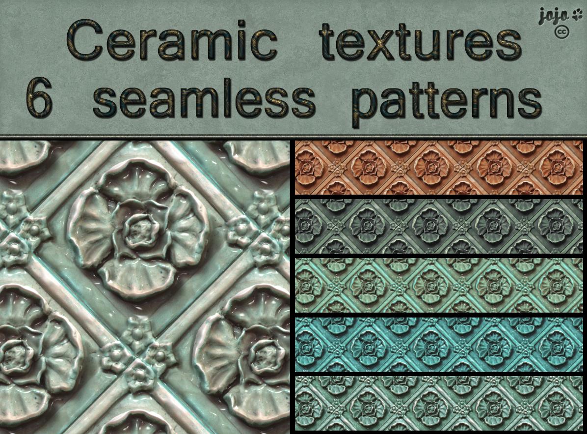 Ceramic seamless textures by jojo-ojoj