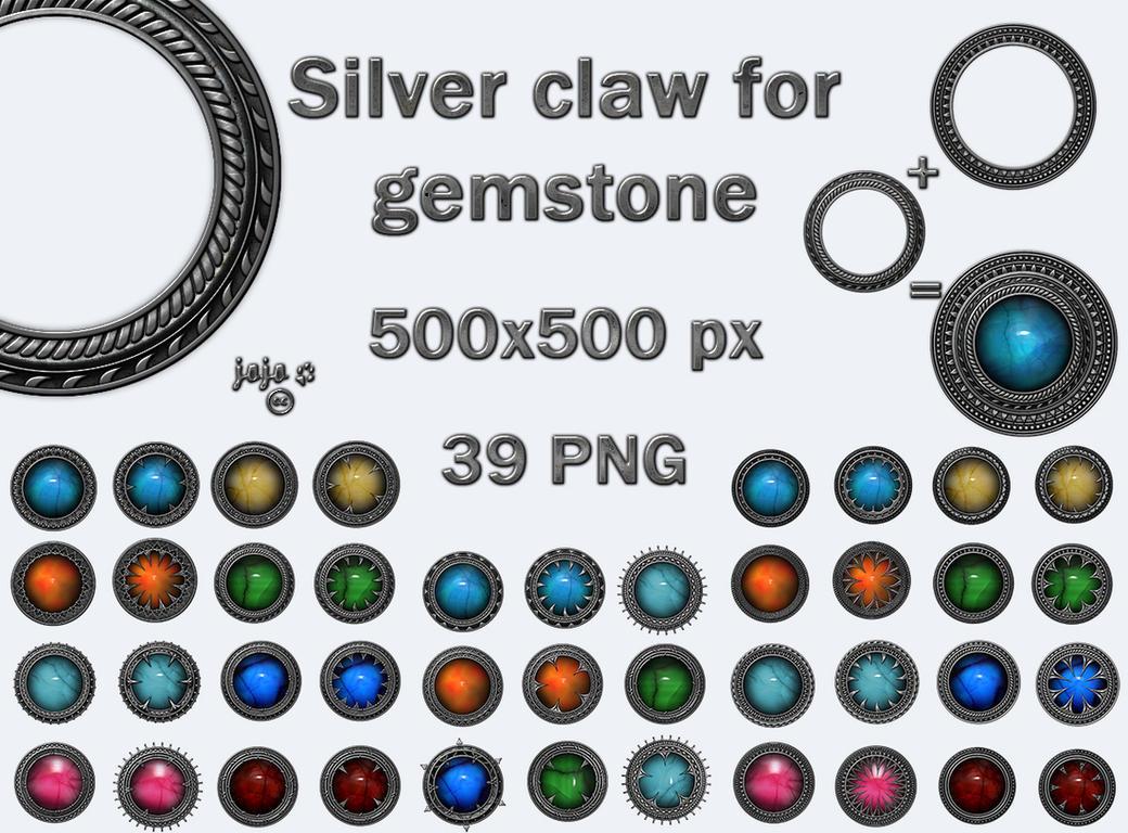Silver claw for gemstone by jojo-ojoj