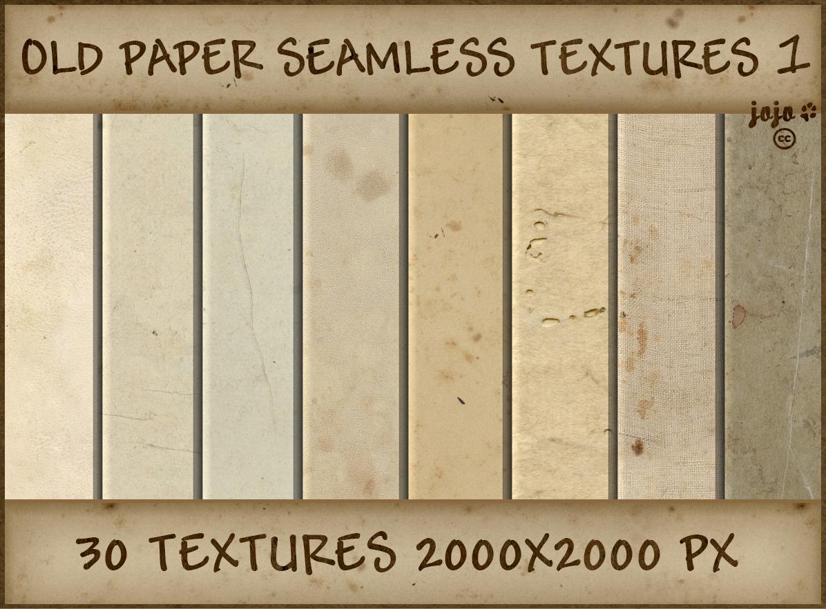 Old paper seamless textures 1 by jojo-ojoj