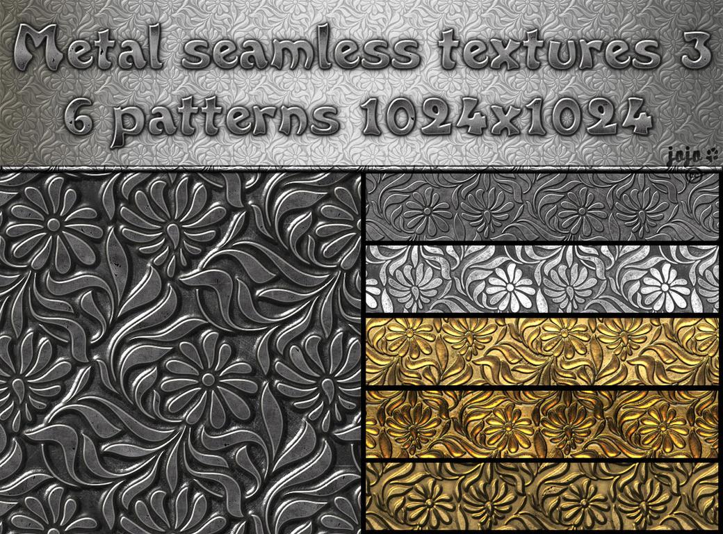 Metal seamless textures pack 3 by jojo-ojoj