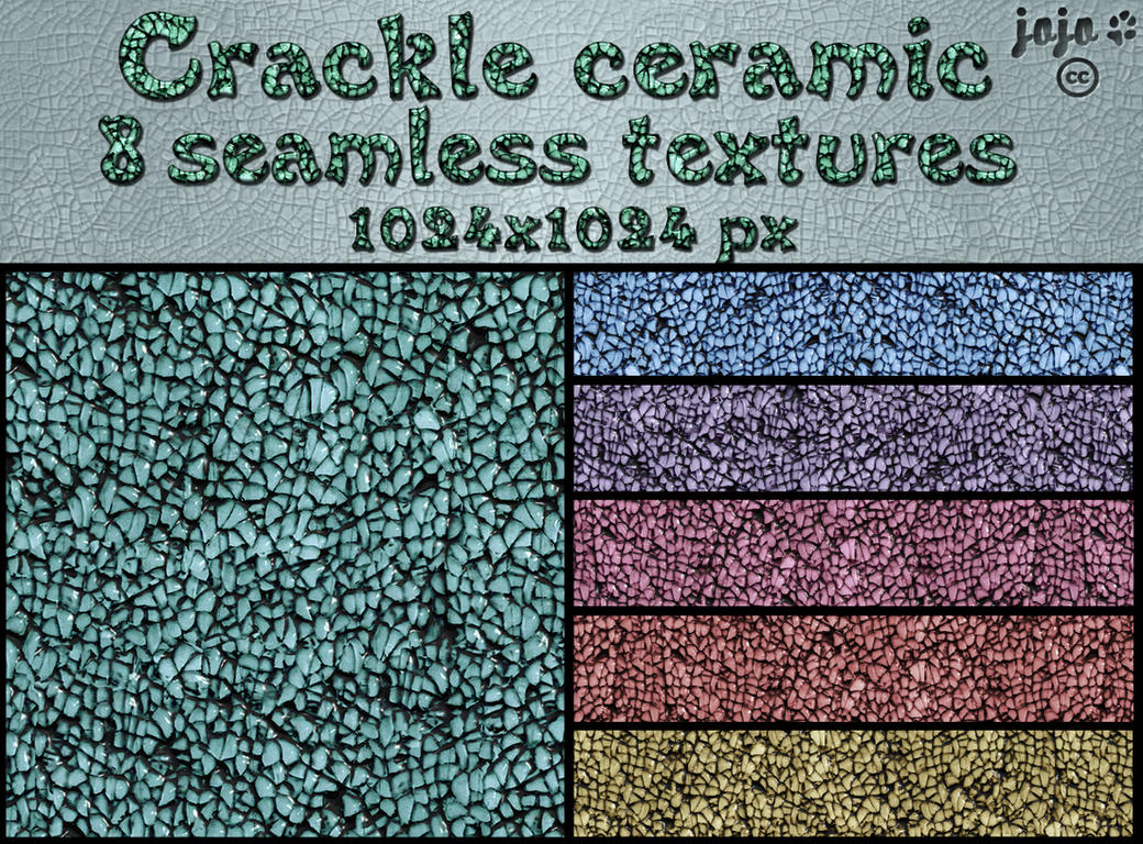 Crackle ceramic seamless textures by jojo-ojoj