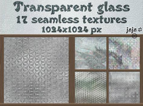 Transparent glass seamless textures