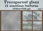 Transparent glass seamless textures