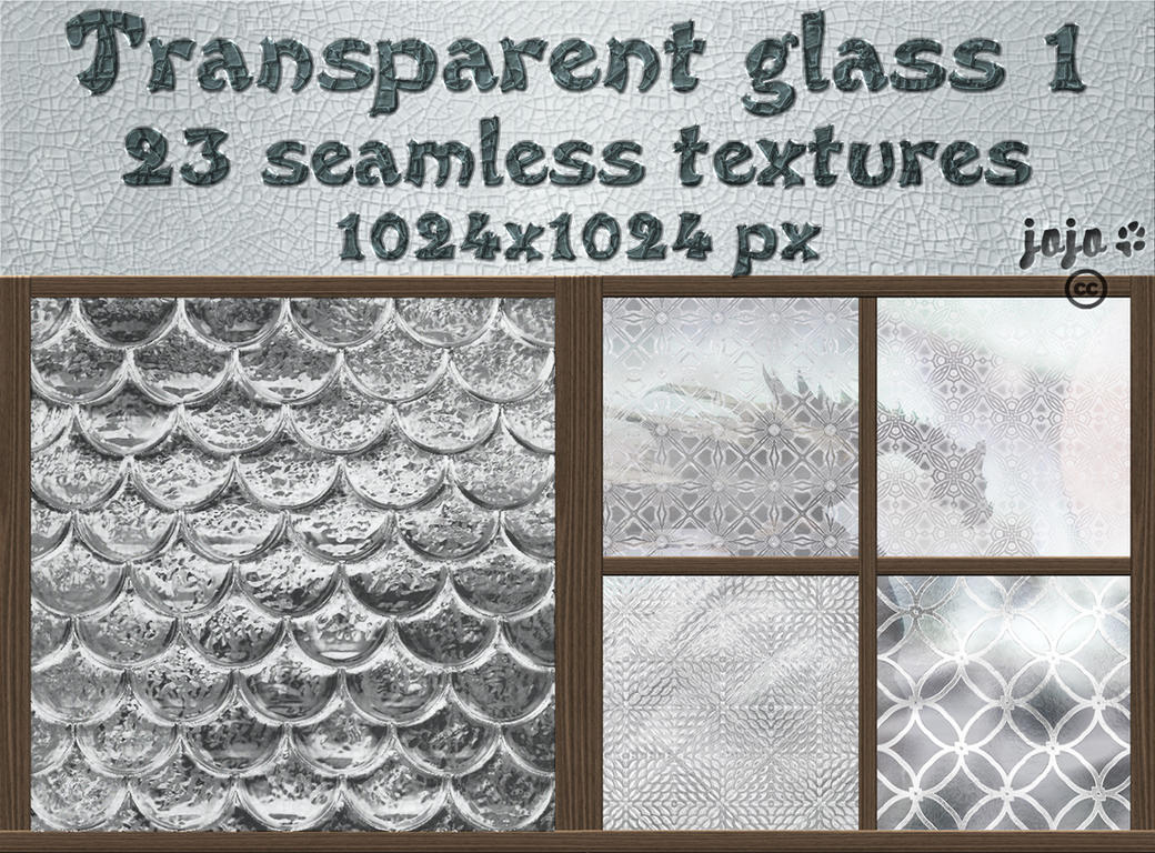 Transparent glass seamless textures 1 by jojo-ojoj