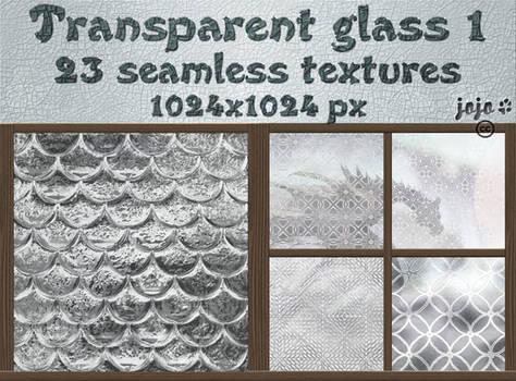 Transparent glass seamless textures 1