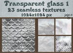 Transparent glass seamless textures 1