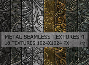 Metal seamless textures pack 4