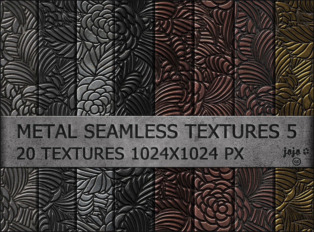 Metal seamless textures pack 5 by jojo-ojoj
