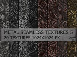 Metal seamless textures pack 5 by jojo-ojoj