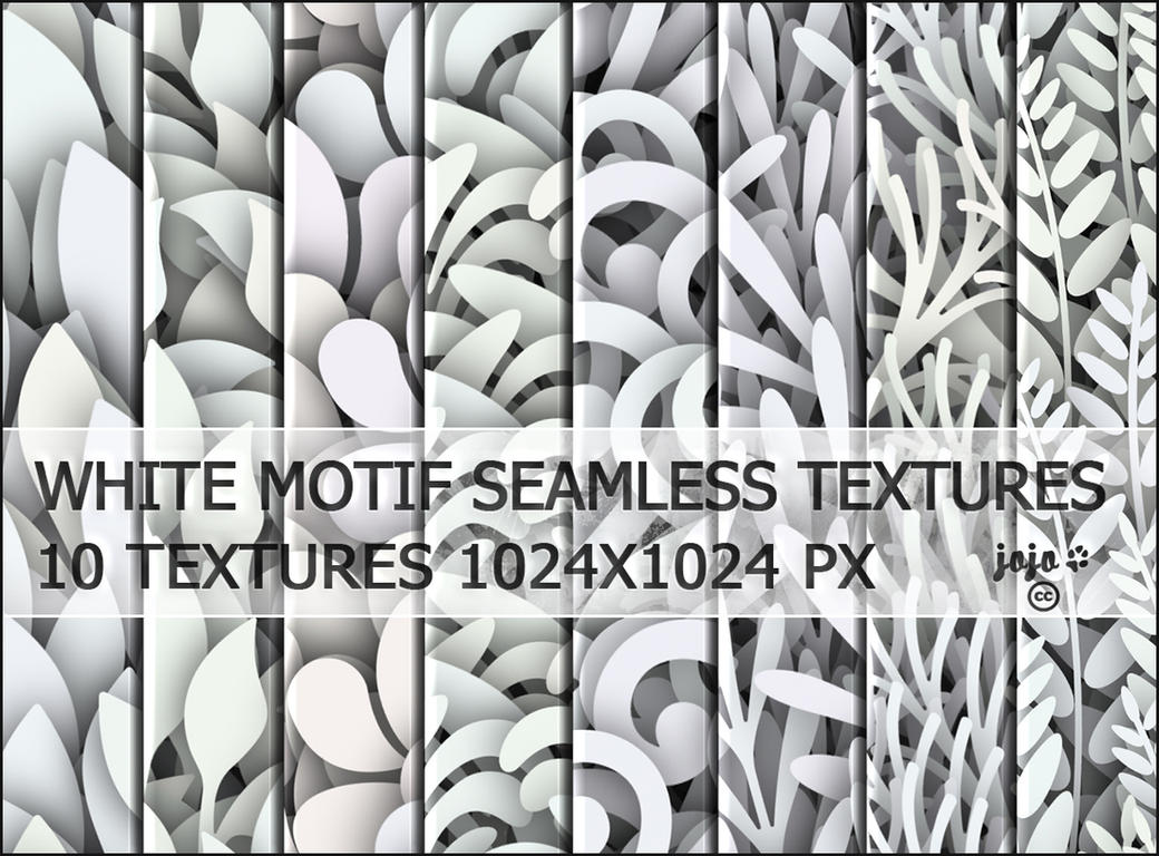 White motif seamless textures by jojo-ojoj