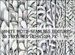 White motif seamless textures