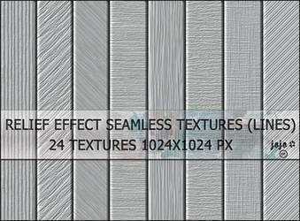 Relief effect seamless textures (lines) by jojo-ojoj