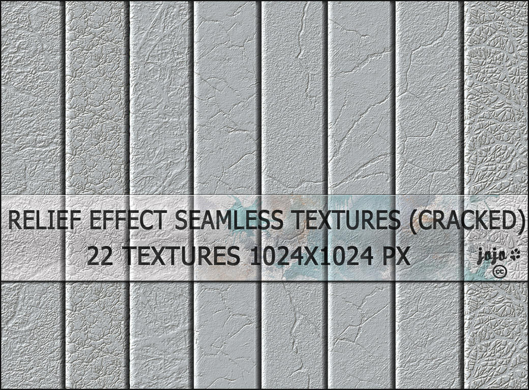 Relief effect seamless textures (cracked) by jojo-ojoj