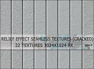 Relief effect seamless textures (cracked)