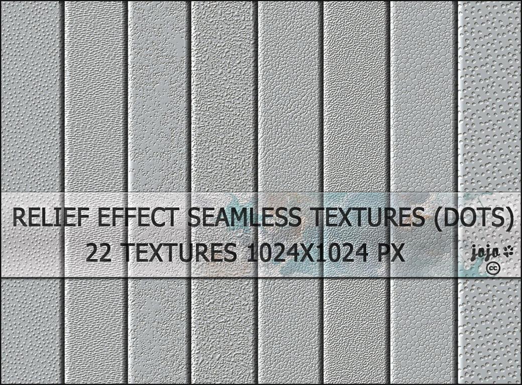 Relief effect seamless textures (dots) by jojo-ojoj