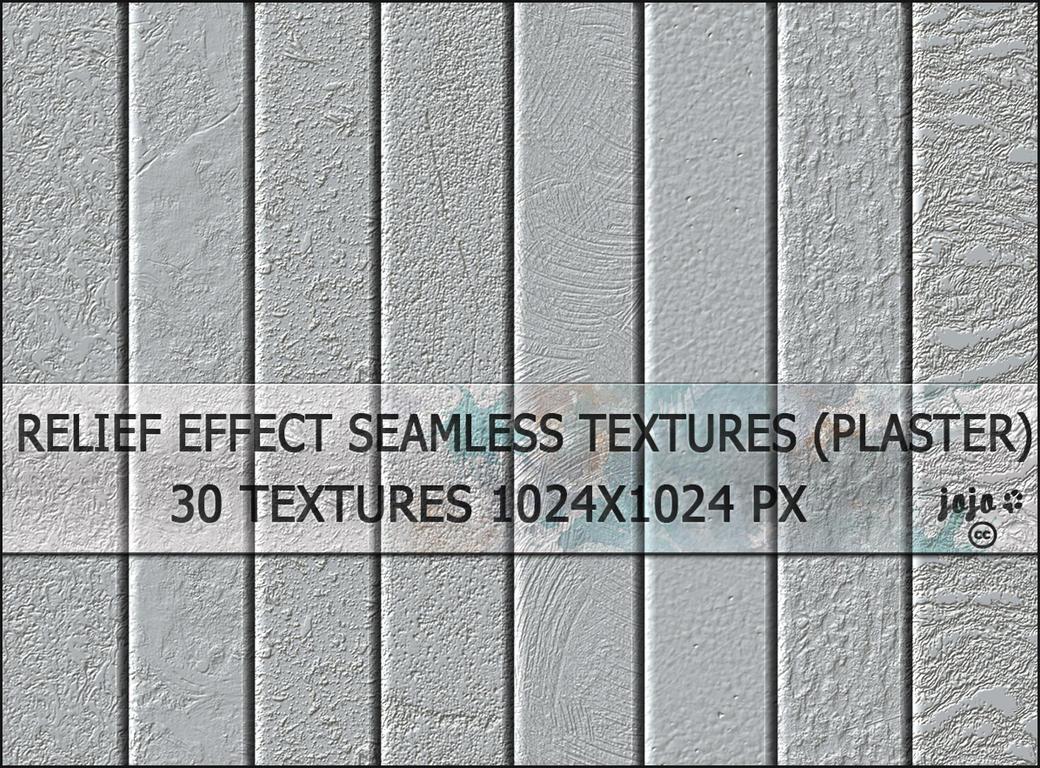 Relief effect seamless textures (plaster) by jojo-ojoj
