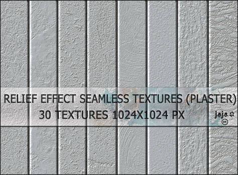 Relief effect seamless textures (plaster)