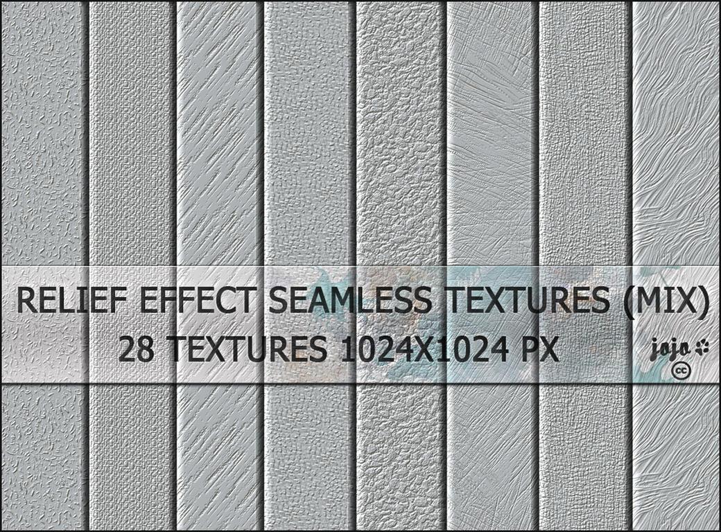 Relief effect seamless textures (mix) by jojo-ojoj