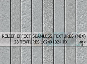 Relief effect seamless textures (mix)