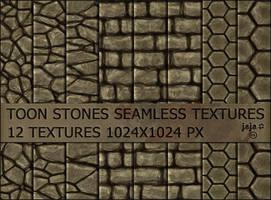 Toon stones seamless textures by jojo-ojoj