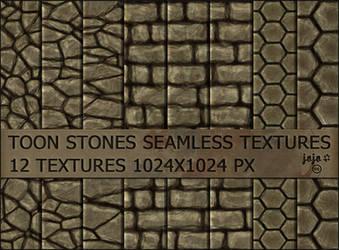 Toon stones seamless textures