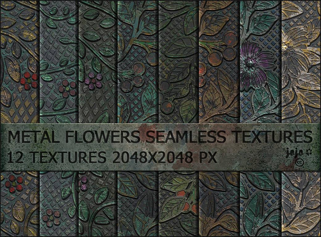 Metal flowers seamless textures by jojo-ojoj
