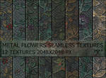 Metal flowers seamless textures