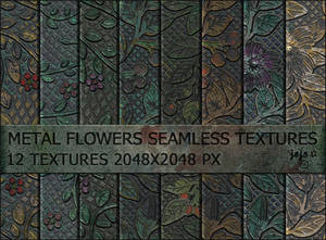 Metal flowers seamless textures