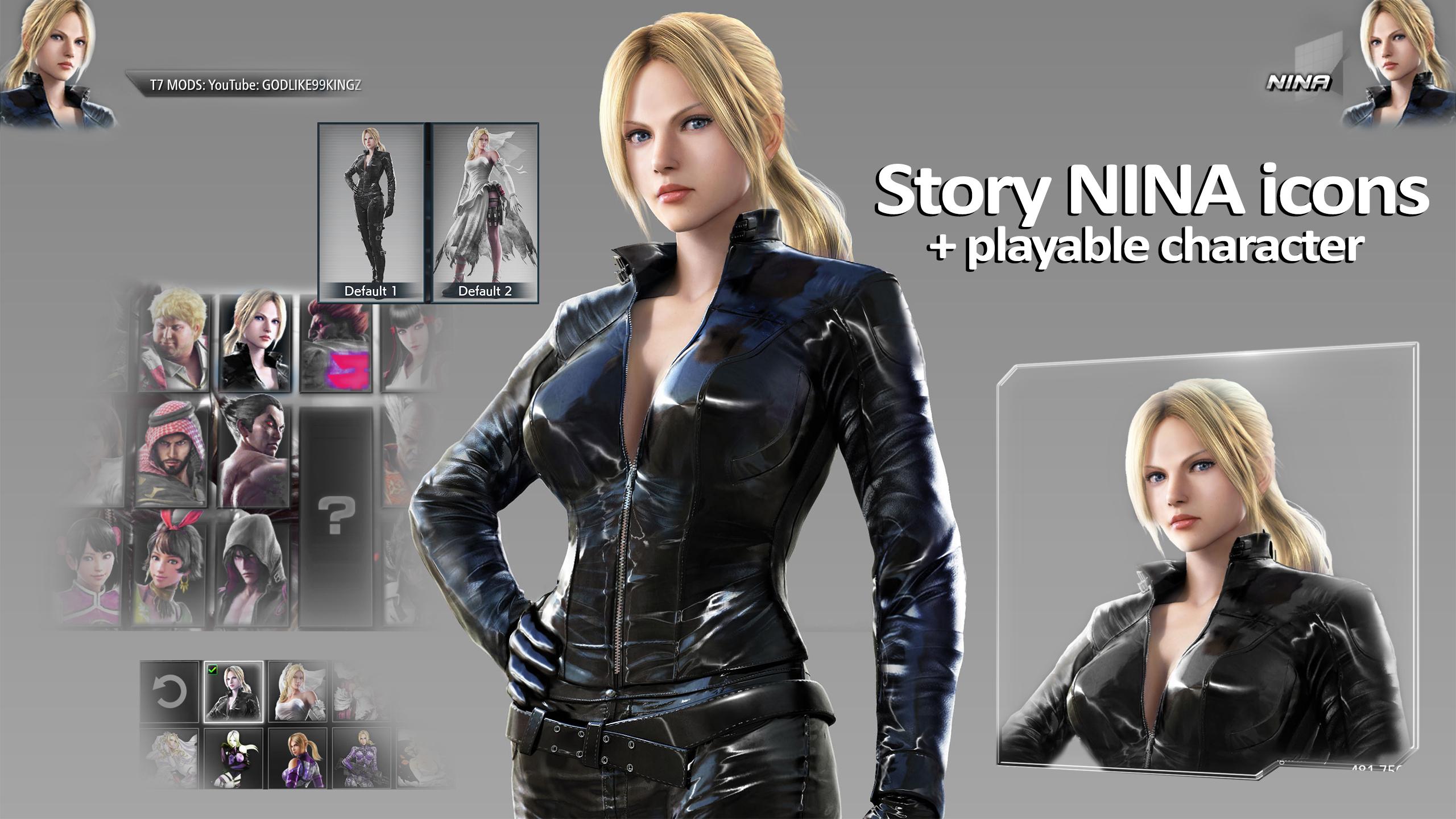 Tekken 7 Pc Custom Icons Story Nina By Godlike99kingz On