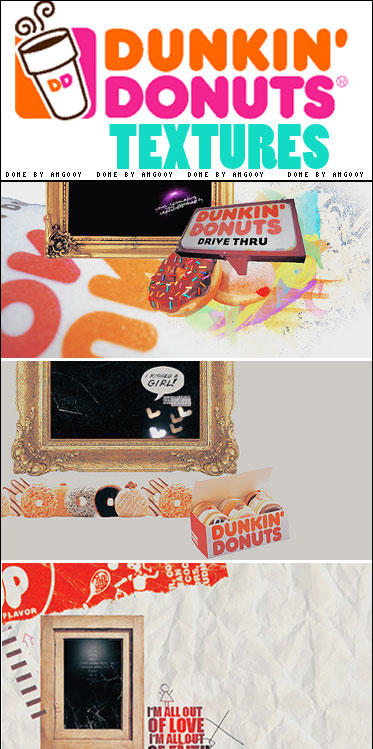 Dunkin' Donuts textures :D by ANGOOY