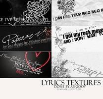 Lyrics Textures by ANGOOY