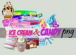 12 ice cream and candy png's