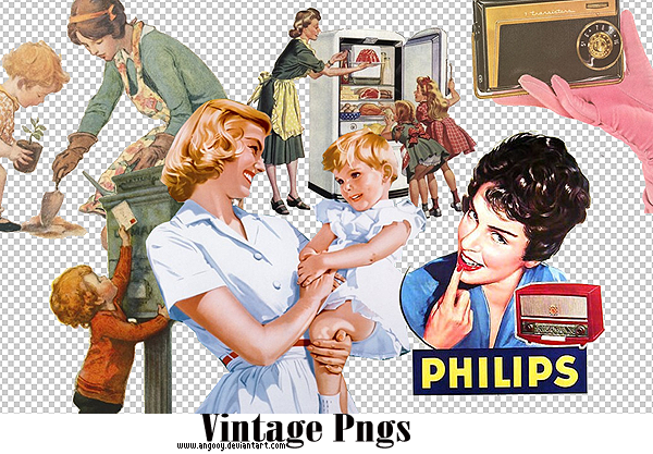 Vintage pngs by ANGOOY