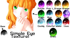 [MMD] Simple Eye Textures! [+Download]