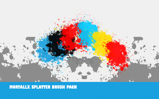 Mortallx Splatter Brushes by mortallx